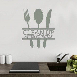 Sticker De Perete Clean Up After Yourself