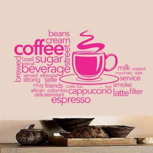 Sticker De Perete Coffee Bean Cream