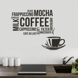 Sticker De Perete Coffee, Mocha, Frappuccino