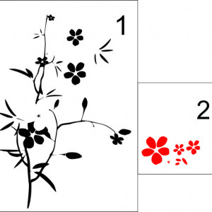 Sticker De Perete Crenguta Ornamentala