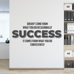 Sticker de Perete cu Mesaj - Success is what you do