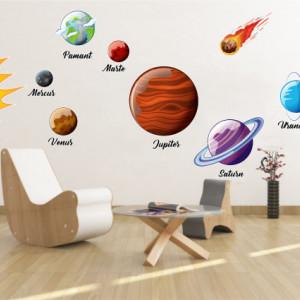 Sticker De Perete Cu Sistem Solar Si Planete