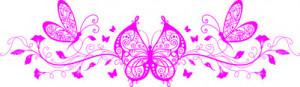 Sticker De Perete Fluture Floral 1