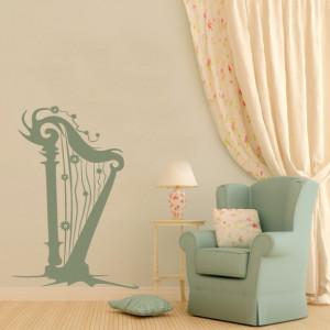 Sticker De Perete Harpa Decorativa