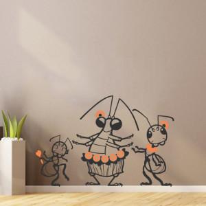 Sticker De Perete Insecte Dansatoare (In Doua Culori)