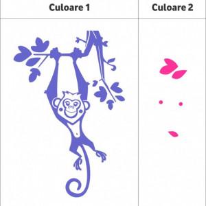 Sticker De Perete Maimuta Atarnata (In Doua Culori)