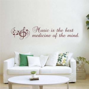 Sticker De Perete Music Is The Best Medicine