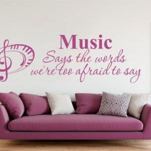 Sticker De Perete Music Says The Words