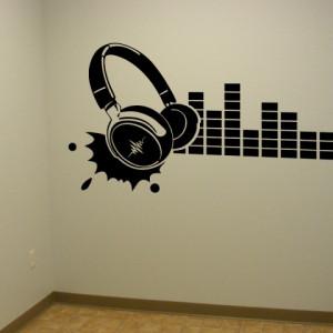 Sticker De Perete Muzica In Casti