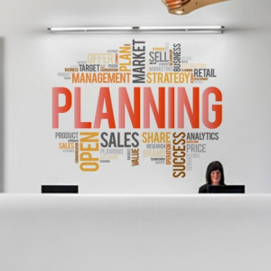 Sticker de Perete Planning Colorat