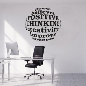 Sticker De Perete Positive Thinking
