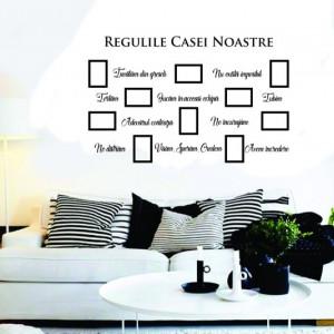 Sticker De Perete Regulile Casei Noastre