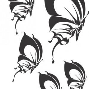 Sticker De Perete Set 5 Fluturi