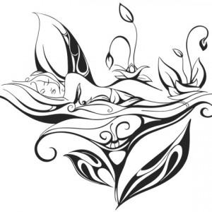 Sticker De Perete Somnoroasa Zana Florilor