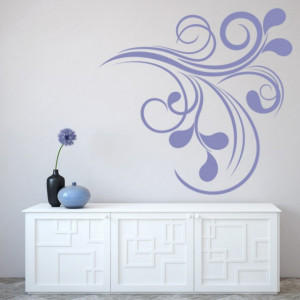 Sticker de Perete Swirl Pattern Corner
