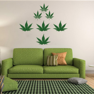 Sticker de Perete Weed Cannabis