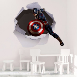 Sticker Decorativ de Perete Captain America