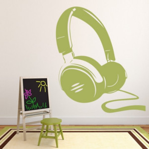 Sticker Headphones Music