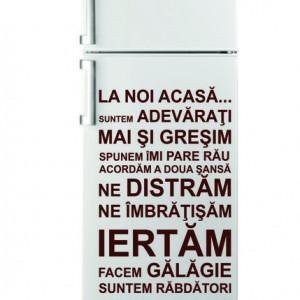 Sticker pentru frigider - La noi Acasa