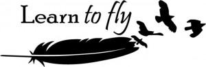 Sticker Pentru Laptop - Learn To Fly