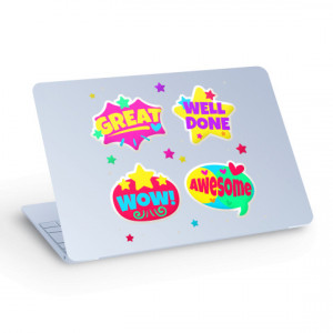 Sticker pentru Laptop - Well Done, Wow, Awsome