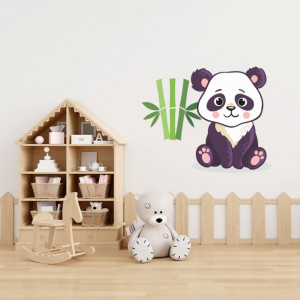 Sticker Ursulet panda si bambus