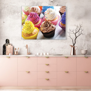 Tablou Bucatarie - Colorful Cupcakes