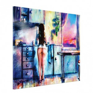 Tablou canvas efect painting - nud