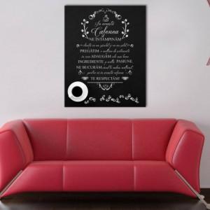 Tablou canvas - In aceasta Cafenea Negru