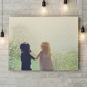 Tablou Canvas Lego love