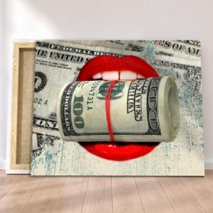 Tablou canvas motivational - Money kiss
