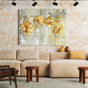 Tablou Canvas Painted flowers