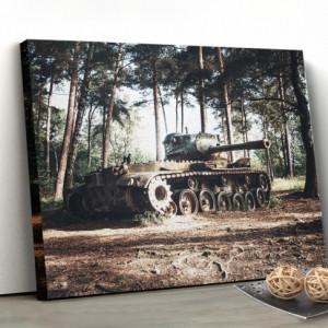 Tablou canvas - Tanc in padure