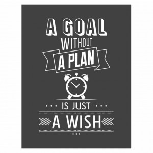 Tablou motivational - A goal without a plan