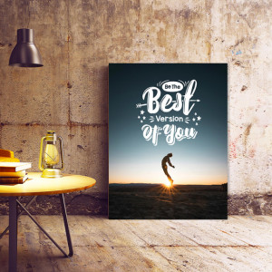 Tablou Motivational - Be The Best Version Of You (Jump)