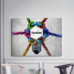 Tablou motivational - Teamwork (knots)