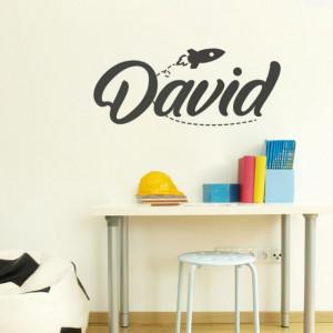 Sticker cu nume - David