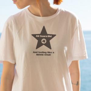 Imprimeu tricou LIKE A MOVIE STAR