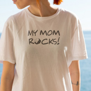Imprimeu tricou MY MOM ROCKS