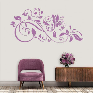 Abstract floral de interior