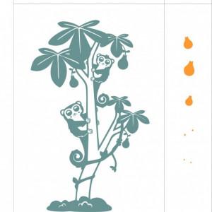 Animalute in copac (in doua culori)