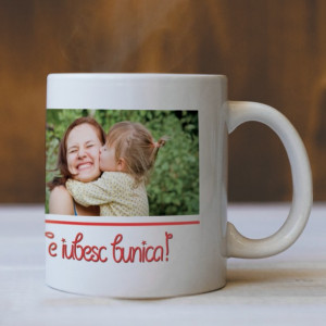 Cana Cu Mesaj Si Poza - Te Iubesc, Bunica!