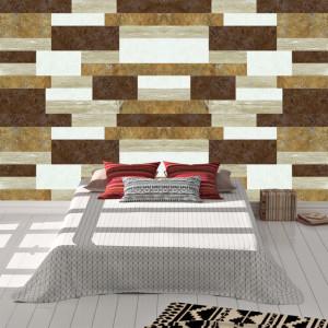 Foto tapet Brown marble tiles
