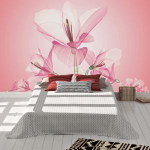 Foto tapet Pink 3D flowers