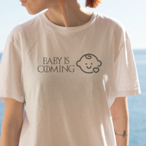 Imprimeu tricou BABY IS COMING