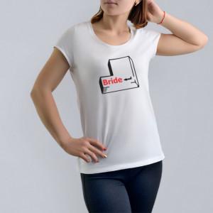 Imprimeu tricou BRIDE - HIT ENTER