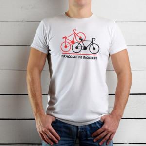 Imprimeu tricou DRAGOSTE DE BICICLETE