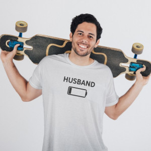 Imprimeu tricou HUSBAND - LOW BATTERY