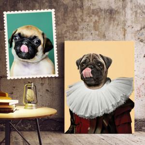 Portret personalizat cu poza ta - Nobil (animal de companie)
