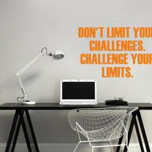 Sticker De Perete Don't Limit Your Challenges